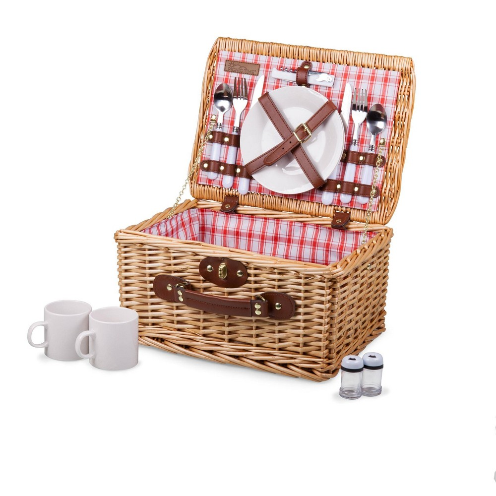 Image of Picnic Time Catalina Picnic Basket - Red and White Plaid
