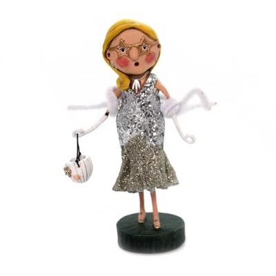 "Lori Mitchell 6.0"" Scarlette Starlet Glitter Pumpkin Halloween  -  Decorative Figurines"