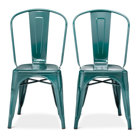 Metal Dining Chair Teal, Metal Dining Room Chairs