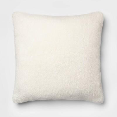 Faux Sheepskin Oversize Square Pillow Cream - Threshold™