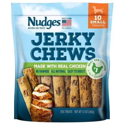 Nudges Jerky Chews Chicken Dog Treats - 12oz/10ct