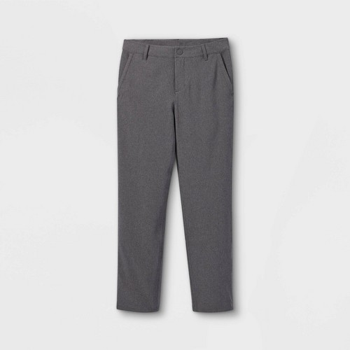 Boys Golf Pants All In Motion Charcoal Gray 4