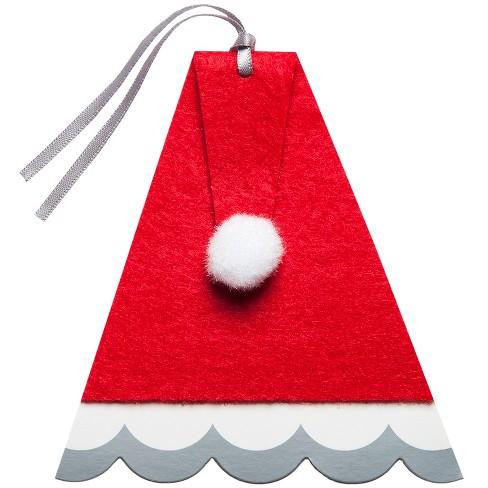 1c75ec51b2e 4ct Christmas Santa Hat Premium Gift Tag Set - Wondershop™   Target