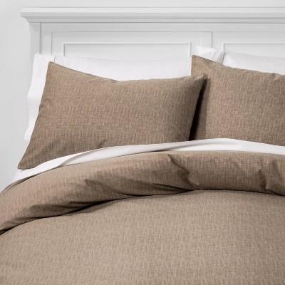 Full/Queen Family Friendly Solid Duvet & Pillow Sham Set Taupe - Threshold™