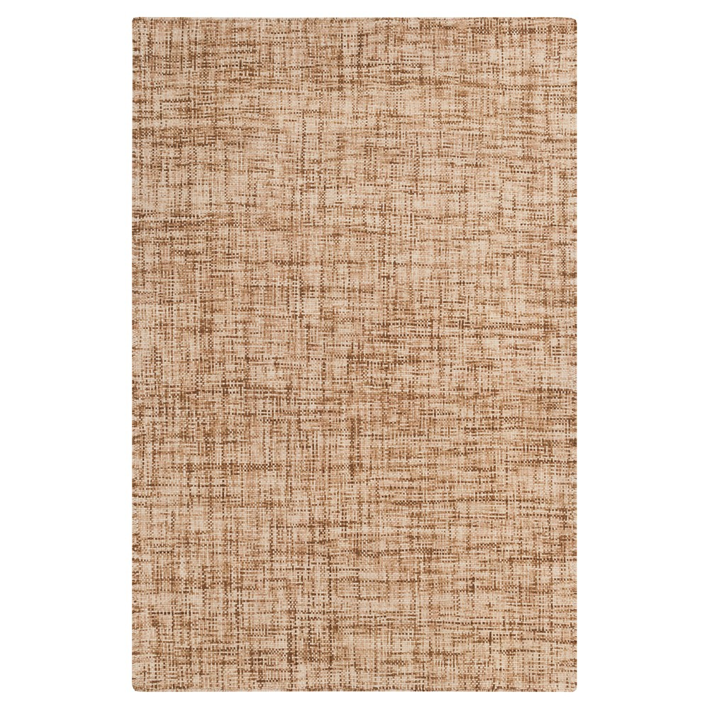 Tan Solid Woven Accent Rug (3'3