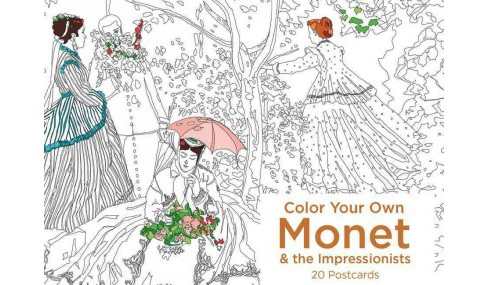Color Your Own Monet and the Impressionists : 20 Postcards (Stationery) - image 1 of 1