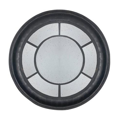 Cameron Round Decorative Mirror Black - A&B Home - image 1 of 4