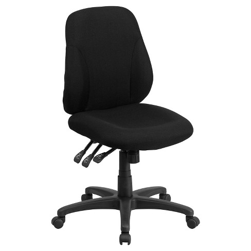Multi-Functional Ergonomic Swivel Task Chair Black - Flash Furniture - image 1 of 3