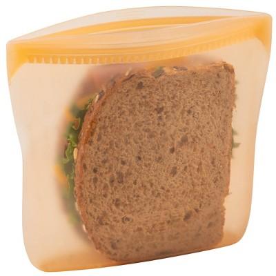 Progressive Reusable Silicone Sandwich Bag - Mellow Orange