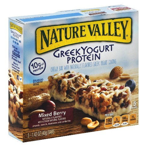 Nature Valley Greek Yogurt Protein Bars Mixed Berry 1.42 oz 5 ct - image 1 of 1