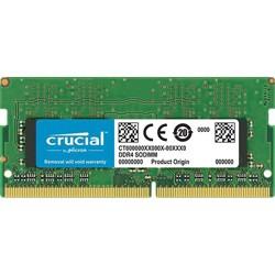 Crucial 8GB 2666 MT/S 260-Pin DDR4 SDRAM SODIMM (PC4-21300) Memory Module, CL19, Unbuffered, Single Ranked x8, 1024M x 64, Non-ECC, 1.2V