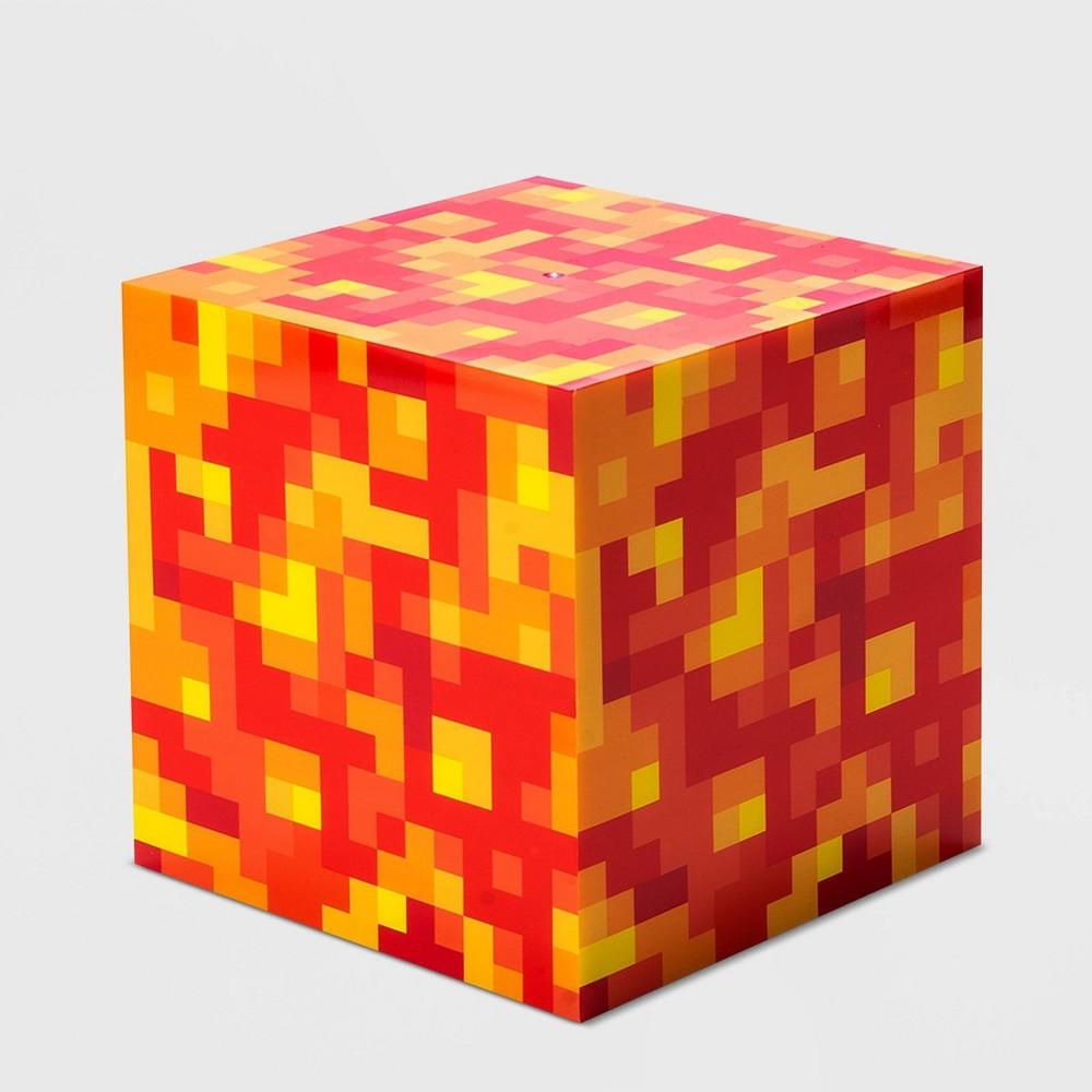 "Image of ""6"""" Minecraft Lava Block Cube Nightlight"""
