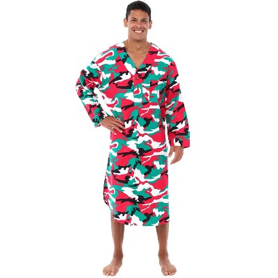 Alexander Del Rossa Men's Lightweight Flannel Sleep Shirt