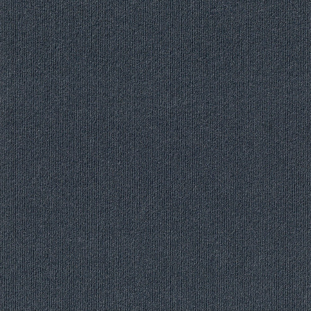 24 15pk Ribbed Carpet Tiles Denim (Blue) - Foss Floors
