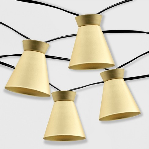 20ct Outdoor Led Solar String Lights Gold Hood Project 62 Target