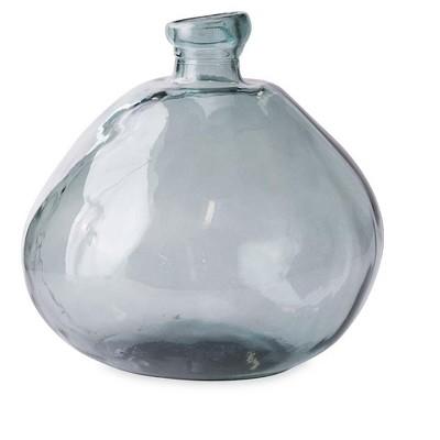 "VivaTerra Recycled Round Glass Balloon Vase, 13"""