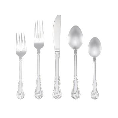 RiverRidge® 46pc Personalized Silverware Set Bouquet Pattern - A