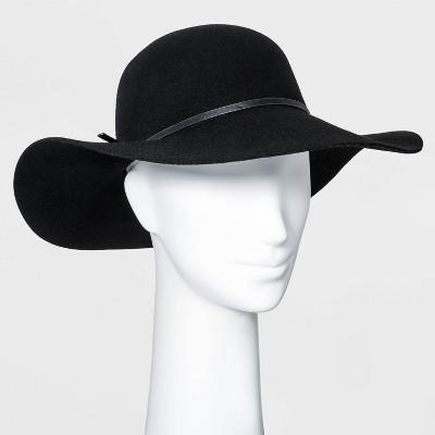 Women's Felt Floppy Hat - A New Day™ Black