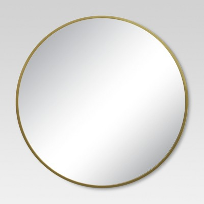 "28"" Round Decorative Wall Mirror Brass - Project 62™"