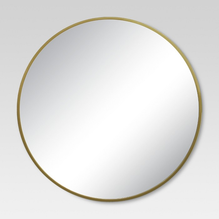 Round Decorative Wall Mirror Brass - Project 62™ - image 1 of 15