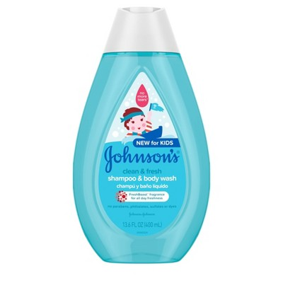 Johnson's Clean and Fresh Shampoo and Wash - 13.6 fl oz