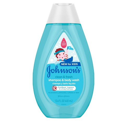 Johnson's Clean and Fresh Shampoo and Wash - 13.6 fl oz - image 1 of 8