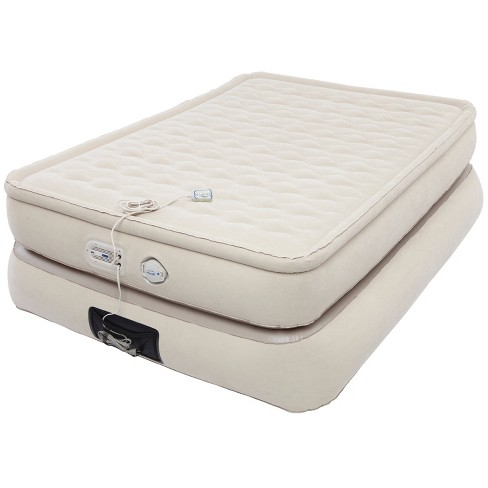 Aerobed Pillowtop Double-High Air Mattress with Built-In Pump & USB Port Full - Khaki - image 1 of 3
