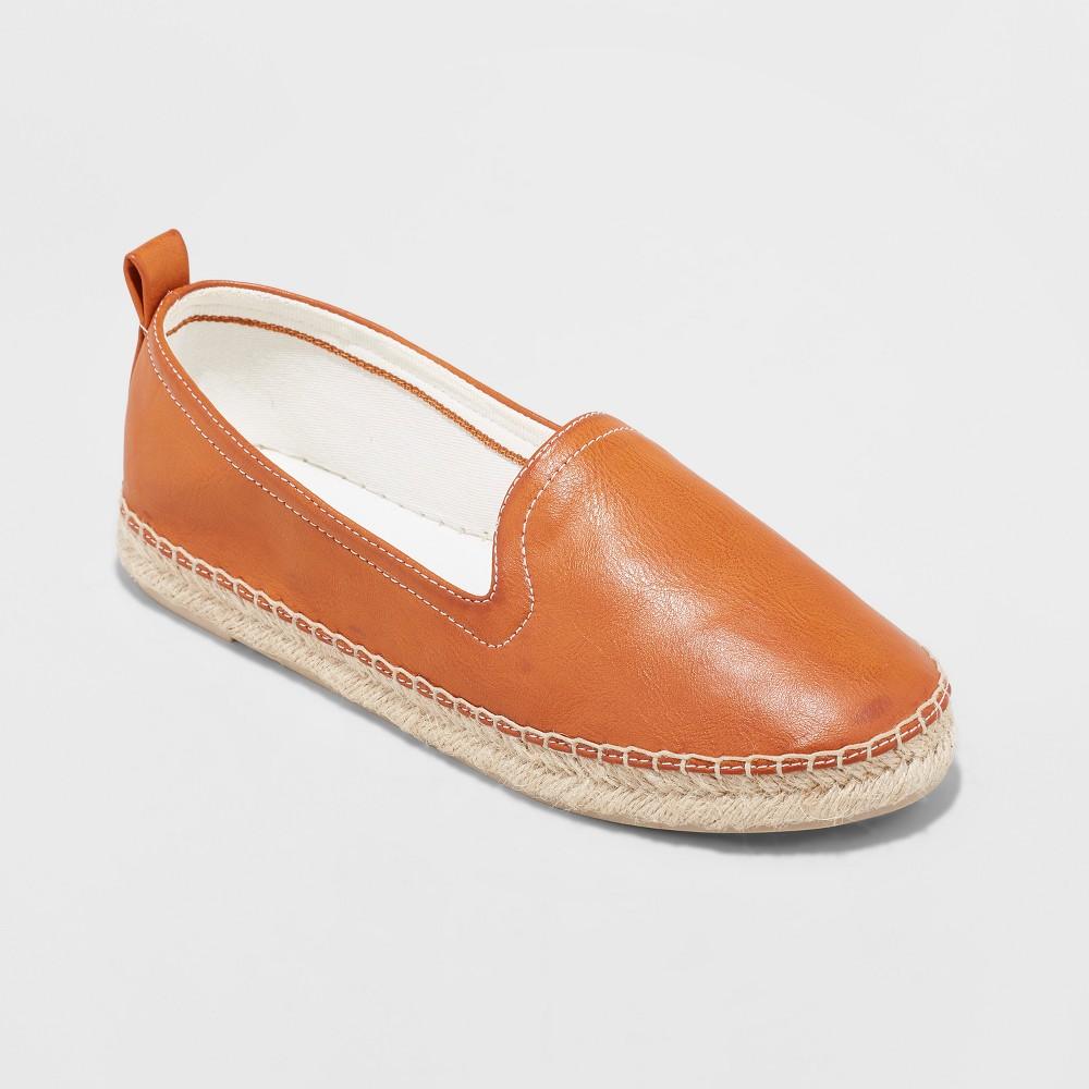 Women's Vauda Slip on Sneakers Espadrilles - Universal Thread Cognac (Red) 10