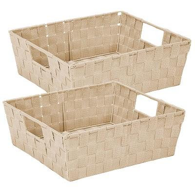 Simplify 2pk Storage Shelf Tote Ivory