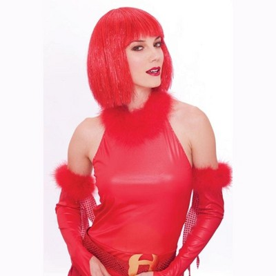 Paper Magic Group Glitzy Glamour Bob Red Adult Costume Wig