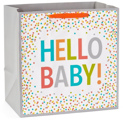 Gift Bag Hello Baby on White - Spritz™ - image 1 of 2