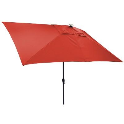 6.5x10u0027 Rectangular Solar Patio Umbrella   Threshold™