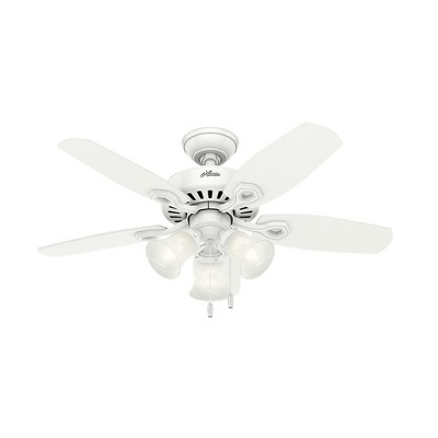 42  Builder Small Room Snow LED Lighted Ceiling Fan White - Hunter Fan