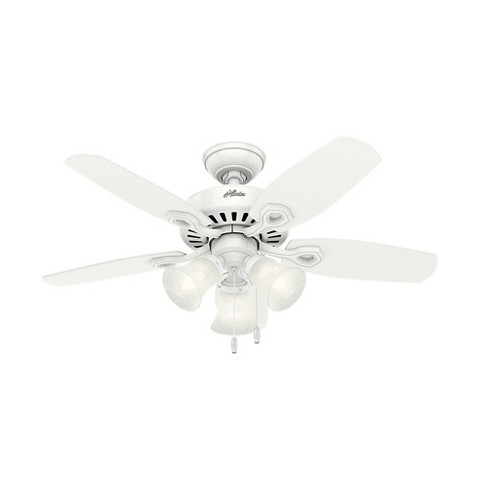 "42"" Builder Small Room Snow LED Lighted Ceiling Fan White - Hunter Fan - image 1 of 4"