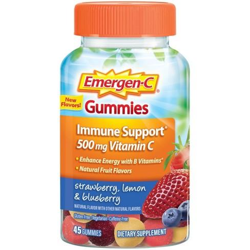 Emergen-C Vitamin C Gummies - Strawberry, Lemon & Blueberry - 45ct - image 1 of 2
