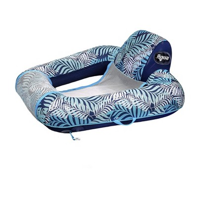 Aqua Zero Gravity Inflatable Outdoor Indoor Swimming Pool Chair Hammock Lounge Float, Blue Fern