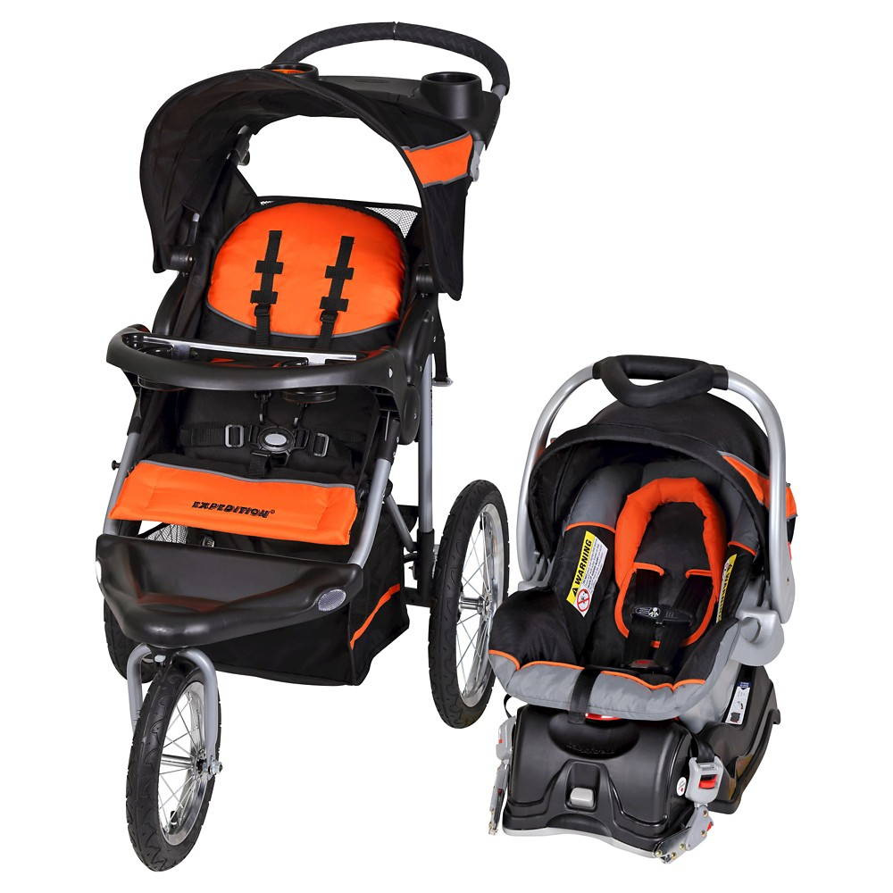 Image of Baby Trend Expedition Travel System - Millennium Orange