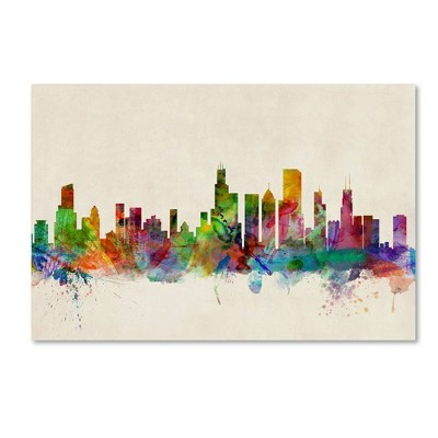 "22"" x 32"" Chicago Illinois by Michael Tompsett - Trademark Fine Art"