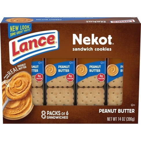 Lance Nekot Peanut Butter On-The-Go Sandwich Cookies - 8ct - image 1 of 4