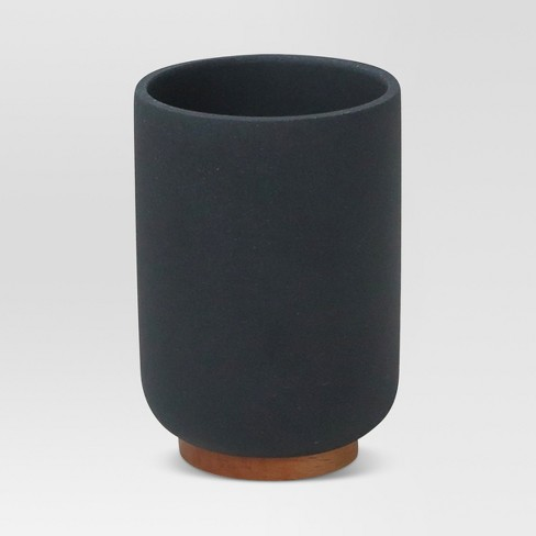 Resin Bathroom Tumbler Black - Project 62™ - image 1 of 3