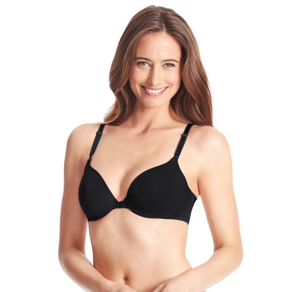 Simply Perfect by Warner's Women's Underarm Smoothing Front Close Bra RB2561T - Black 36D