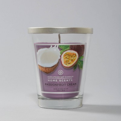 11.5oz Glass Jar Passionfruit Cream Candle - Home Scents by Chesapeake Bay Candle