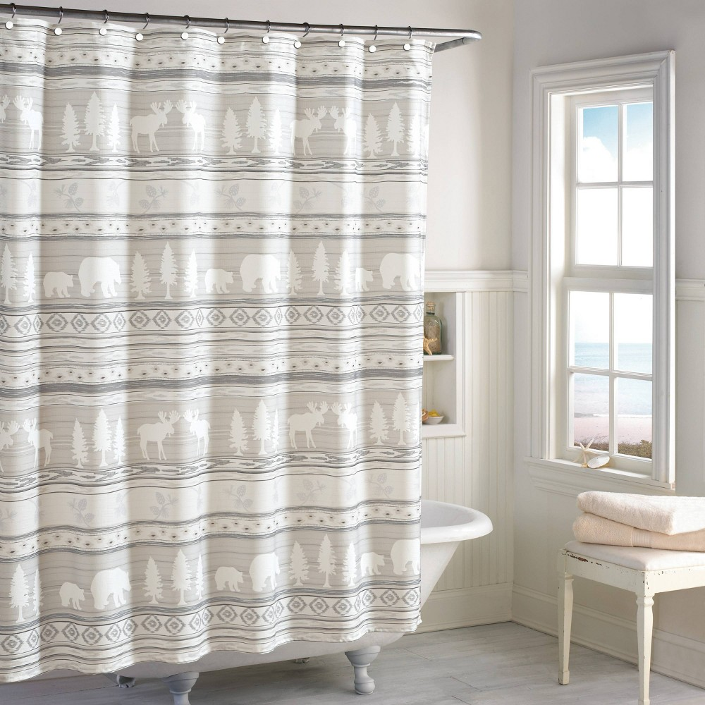 Image of Saranac Shower Curtain Natural - Destinations