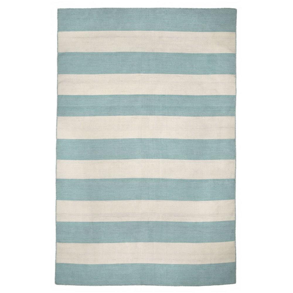Image of Sorrento Rugby Stripe Water Rug - Blue - (2'X3') - Liora Manne