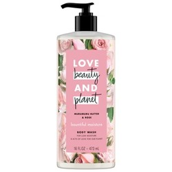 Love Beauty & Planet Murumuru Butter & Rose Bountiful Moisture Body Wash Soap - 16 fl oz