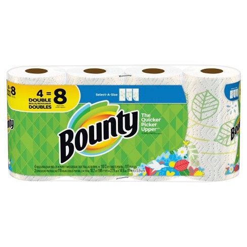 bounty select-a-size printed paper towels - 4 doubl : target