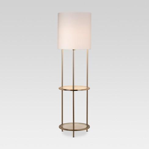 Gl Shelf Floor Lamp Silver Threshold