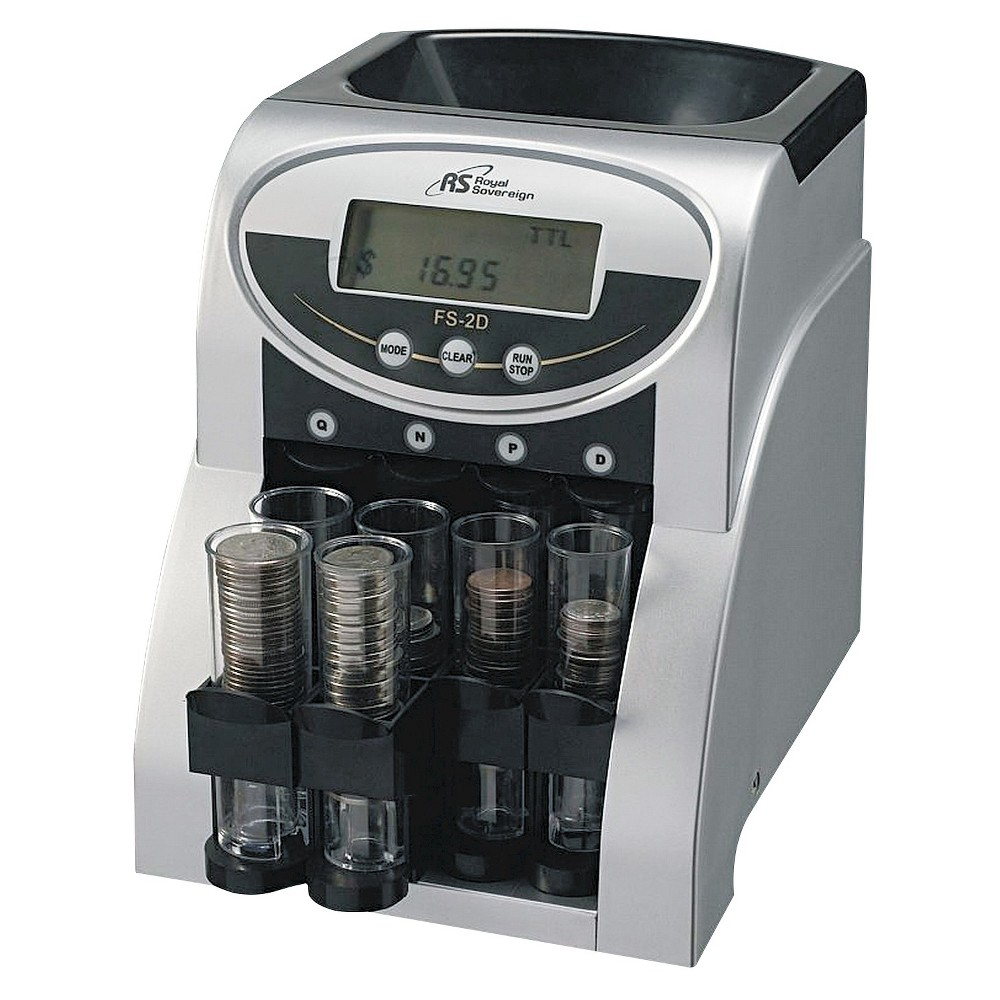 Royal Sovereign Electric 2 Row Coin Counter FS-2D, Silver