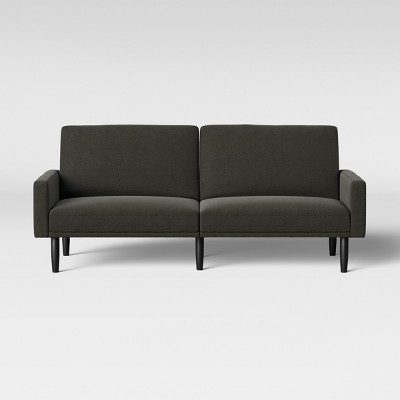 Futon Sofa with Arms Dark Gray - Room Essentials™