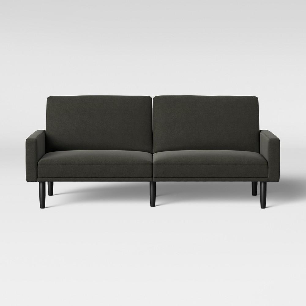 Futon Sofa With Arms Dark Gray - Room Essentials